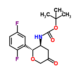 CHINA N-[(2R,3S)-2-(2,5-Difluorophenyl)tetrahydro-5-oxo-2H-pyran-3-yl]carbamic acid 1,1-dimethylethyl ester