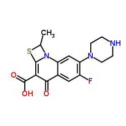CHINA 6-Fluoro-1-methyl-4-oxo-7-(piperazin-1-yl)-1,4-dihydro-[1,3]thiazeto[3,2-a]quinoline-3-carboxylic acid